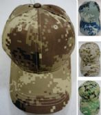 36 Units of Digital Camo Ball Cap Assortment - Baseball Caps/Snap Backs