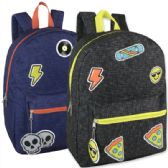 24 Units of 16.5 Inches Kids Backpack With Bonus Key Chain - Backpacks 16""