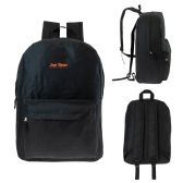 "24 Units of 17"" Kids Wholesale Classic Backpack in Black - Backpacks 17"""