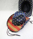 12 Units of American Flag Cowboy Hat - Cowboy, Boonie Hat