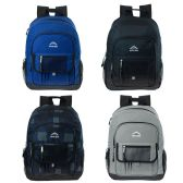 24 Units of 17 Inch Premium Backpack in 4 Assorted Colors - Backpacks 17""