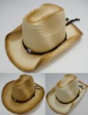 72 Units of Cowboy Hat with Medallion [Distressed Look] - Cowboy, Boonie Hat