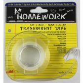 "144 Units of Stationery Tape - Clear - 1/2"" x 800"" - w/dispenser - Tape & Tape Dispensers"