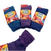 36 Units of Womens Heat Retainer Thermal Socks - Womens Thermal Socks
