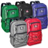 "24 Units of Trailmaker 18 Inch Deluxe Mesh Backpacks- 5 Colors - Backpacks 18"" or Larger"