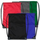 48 Units of 18 Inch Basic Drawstring Bag - 5 Colors - Draw String & Sling Packs