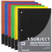 48 Units of 1 Subject Notebook - College Ruled - Notebooks