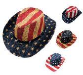 12 Units of Children Cowboy Hat USA Print - Cowboy, Boonie Hat