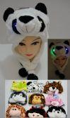 24 Units of Plush Animal Hat--Light Up - Winter Animal Hats
