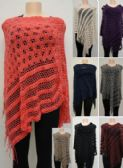 24 Units of Knitted Shawl with Fringe Loose Knit - Winter Pashminas and Ponchos