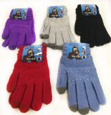 24 Units of Women's Assorted Color Texting Gloves - Conductive Texting Gloves