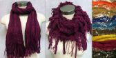 36 Units of Dual Purpose Infinity Scarves Bi-colors with Fringes - Winter Scarves