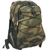"24 Units of 18.5"" Backpack With Bungee Cord In Camouflage - Backpacks 18"" or Larger"