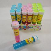 "48 Units of Bubble Wand-Emoji Bottle with Maze Toy [6.5""] - Bubbles"
