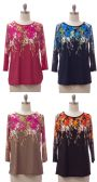 24 Units of Women's Floral Print Top - Womens Fashion Tops