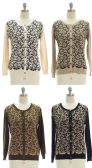 30 Units of Women's Floral Knit Cardigan - Womens Sweaters & Cardigan
