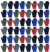 120 Units of Assorted Kids Mittens In Many Colors - Knitted Stretch Gloves