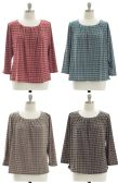 24 Units of Women's Plus Size Printed Blouse - Womens Fashion Tops