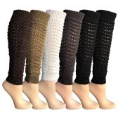 Womens Leg Warmers, Warm Winter Soft Acrylic Assorted Colors by WSD (Slouch) - Womens Leg Warmers