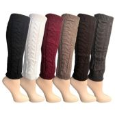 Womens Leg Warmers, Warm Winter Soft Acrylic Assorted Colors by WSD (Cable Knit, B) - Womens Leg Warmers