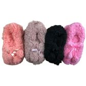 WSD Womens Cozy Slipper Socks or Boot Sock, Sherpa Lined Warm Winter Gift - Womens Slipper Sock