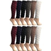 12 Pairs of Womens Leg Warmers, Warm Winter Soft Acrylic Assorted Colors by WSD (Pearl) (One Size) - Womens Leg Warmers
