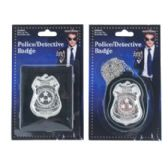 72 Units of Badge Metal 2 Assorted Police Detective - Halloween & Thanksgiving