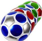 10 Units of Official Size Metallic Geometric Soccer Balls - Balls