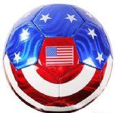 10 Units of Official Size Metallic USA Flag Soccer Balls - Balls