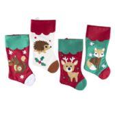 48 Units of Stocking 18in Woodland Animal - Christmas Decorations
