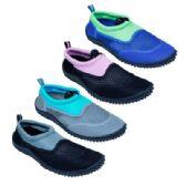 48 Units of Girls Aqua Shoes Size 12-4 Assorted Colors - Girls Sandals