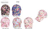 60 Units of Floral Printed Womens Baseball Caps - Baseball Caps & Snap Backs