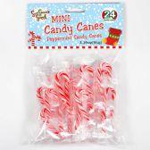 48 Units of SOO SOO SWEET MINI CANDY CANES 24 CT - Christmas Novelties