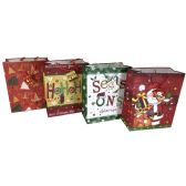48 Units of PARTY SOLUTIONS XMAS GIFT BAG X-LARGE - Christmas Gift Bags and Boxes