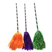 "36 Units of PARTY SOLUTIONS WITCH BROOM 23"" ASSORTED - Halloween & Thanksgiving"