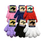 36 Units of Kids Furry Gloves Assorted Colors - Fuzzy Gloves