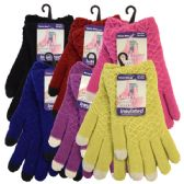36 Units of Winter Ladies Sensitive Touch Glove Assorted Colors - Conductive Texting Gloves