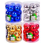 """24 Units of PARTY SOLUTIONS XMAS BALL 2"""" 15 PK ASTD COLORS - Christmas Decorations"""