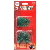 36 Units of PARTY SOLUTIONS ORNAMENT HANGERS 150 CT - Christmas Decorations