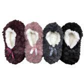 WSD Womens Cozy Slipper Socks or Boot Sock, Sherpa Lined Warm Winter Gift, 4 Pack (Small/Medium, Pack B) - Store