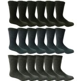 18 Pairs of Mens Steel Toe Socks, Thick Boot Sock, Heavy Duty Industrial Work, Crew and Ankle (10-13) - Mens Crew Socks