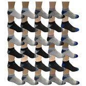 30 Pairs of WSD Mens Ankle Socks, No Show Athletic Sports Socks (30 Pairs Colorful Sports) - Mens Ankle Sock