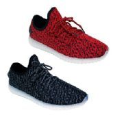 12 Units of Women's LED Sneakers in Red - Women's Sneakers