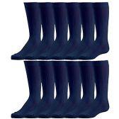 Bulk Pack excell Girls Fancy Cable Knit Knee High Socks, Solid Colors, Uniform Socks (6 Pair Navy, 8-9.5) - Girls Knee Highs