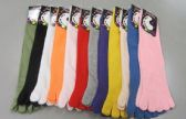 180 Units of Womens Solid color Toe Socks - Women's Toe Sock