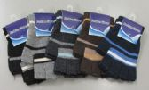 180 Units of Mens Thermal Fingerless Gloves - Knitted Stretch Gloves