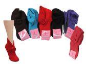 120 Units of Ladies Winter Knit Slipper Socks - Womens Slipper Sock