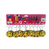 96 Units of Smiley Face Keychain Assorted - Key Chains