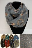 36 Units of Extra-Wide Light Weight Infinity Scarf Elephant Print - Womens Fashion Scarves