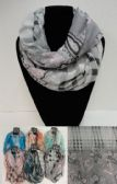 36 Units of Extra-Wide Light Weight Infinity Scarf Lg Paisley/Plaid - Womens Fashion Scarves
